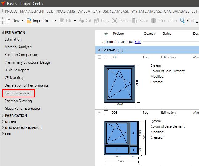 Excel Estimation – Orgadata Helpdesk EN
